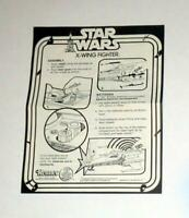 VINTAGE! Kenner 1977 STAR WARS X-WING Instructions FREE SHIPPING!