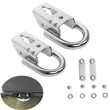 2Pcs 09-18 F150 Genuine RHA Ford Parts Chrome Tow Hooks PAIR w/ Hardware