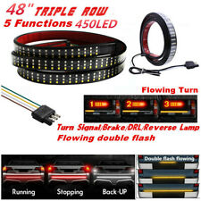 "48"" Triple Row 450 LED 3 Colors Tailgate Light Bar Flowing Turn Signal Brake/DRL"