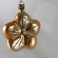 """Cristborn Vintage Christmas Tree Ornament Hand Blown Glass 3.5"""" Made In Germany"""