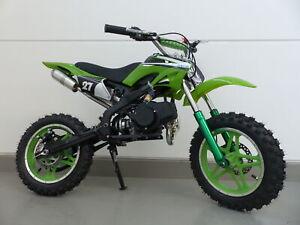 RV-Racing Pocketbike Dirtbike Pocket Cross Bike Kindermotorrad Crossbike Grün
