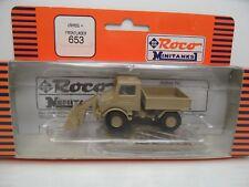 Roco Minitanks 653 - Unimog + Frontlader - Neuwertig in OVP - #7154