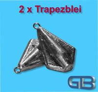 2 x Trapezblei 20g, 40g, 60g, 80g, Karpfenblei Blei Grundblei Angelblei.