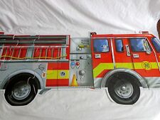 GIANT FIRE TRUCK Floor Puzzle 4 Feet 24 Jumbo Pieces 436 Melissa and Doug