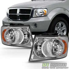 2007 2008 2009 Dodge Durango Headlights Headlamps Replacement 07 09 Left Right Fits