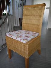 4x Sitzkissen Stuhlkissen Kissen mit Bindeband natur Set NEU OSAKA
