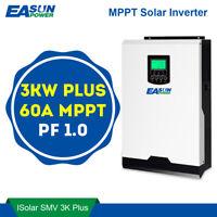 MPPT 3KW 24V Pure Sine Wave Inverer +60A-MPPT Solar  SUPPORT lithium battery