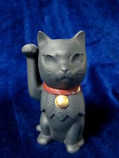NEW LLADRO MANEKI NEKO BRAND NIB #9166 CHINESE LUCKY CAT BLACK PAW UP SAVE$ F/SH