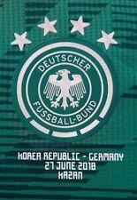.Brasilien WM 2014 Patch Aufdruck Silber Flock Match Details Trikot Deutschland
