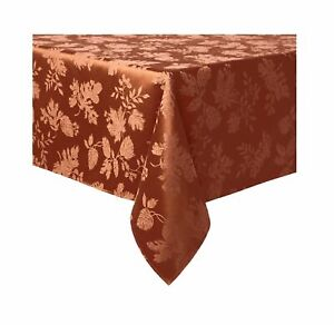 Autumn Medley Damask Tablecloth in Spice - Choice of Sizes