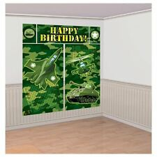 Army Camouflage Birthday Party Giant Scene Setter Wall Decorating Kit
