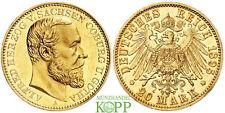 Z110) J.272 SACHSEN COBURG GOTHA 20 Mark 1895 - Alfred 1893-1900