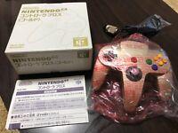 Nintendo64 Controller Bros Gold Color VERY RARE BOX 033