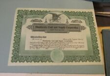 Shanferoke Coal and Supply Company of Delaware Unissued Stock Certificate