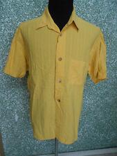 180 Z14 SIGNUM Diseñador Camisa De Hombre Talla L Maíz amarillo Cuello KENT