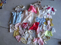 Big Lot of Vintage Larger Doll Clothing with Handmade Pieces Look