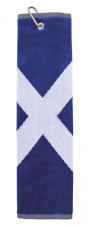 New Scotland Flag Scottish Saltire trifold golf towel & carabiner clip
