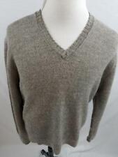 Bullock & Jones Mens L Gray Baby Alpaca Ireland Made V Neck Knit Sweater