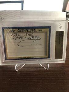2018 Leaf History of Baseball Max Carey Cut Signature 17 of 29