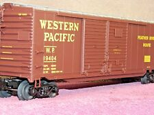 LIONEL SCALE #6-27459 WESTERN PACIFIC 50FT DD BOX CAR w/AUTO FRAME LOAD NIB