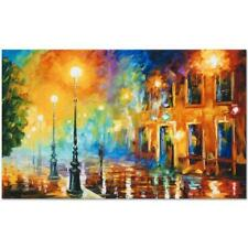 "Leonid Afremov ""Misty City"" Numbered Limited Edition on Canvas"