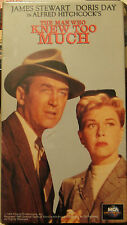 The Man Who Knew Too Much (VHS, 1995) James Stewart, Doris Day; A.Hitchcock; NEW