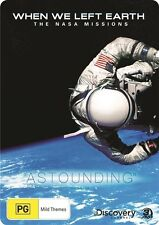 When We Left Earth - The NASA Missions (DVD, 2009, 4-Disc Set) - Metal Case