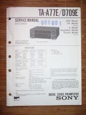 Manual de Servicio sony TA-A77E/TA-D709E, Original