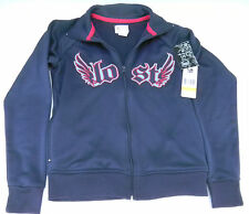 LOST Womens Wings Track Navy Jacket sz S NWT NEW zip up