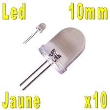 10x LED 10mm Jaunes 30000mcd