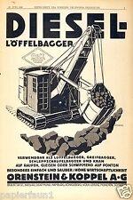 Excavadoras Orenstein & acoplamiento publicitarias de 1928 löffelbagger diesel Berlín o&k grúa