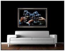 Fabian Perez Large Hand Embellished Giclee on Canvas Signed Red White Wine Art