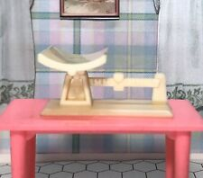 Renwal Nursery Baby Scale Vintage Tin Dollhouse Furniture Ideal Plastic 1:16