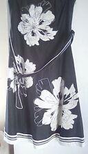 Silk/Cotton Debut Black/Cream Strapless Dress sz12. Stunning!