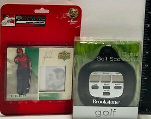 Tiger Woods Magnetic Photo Frame & Brookstone Electronic Golf Scorecard ~ Set #1