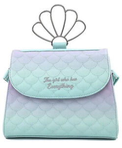 Loungefly Little Mermaid Ombre Scales Shell Handle Crossbody Wdtb2168