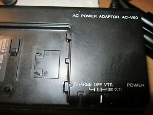 Sony AC Power Adapter AC-V60A  Handycam Camcorder Battery Charger Genuine