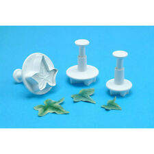 PME Plunger Cutters, Plastic, 3 Pc. Set: Veined Ivy Leaf