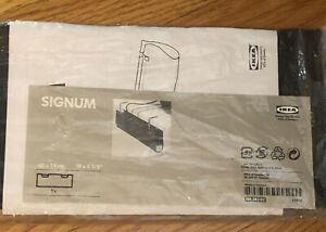 NEW IKEA Signum Black Desk Clamp Cable Management Pouch 501.383.02 Discontinued