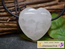 Markenlose Rosenquarz Echtschmuck mit Herz-Schliffform