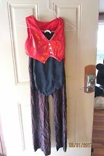 Curtain Call Dance Theatrical Halloween Costume 3 PC  Red/Black Jazz Tap