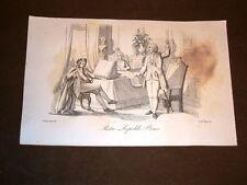 Incisione rame del 1851 Leopoldo II d'Asburgo-Lorena Granduca di Toscana