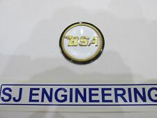 BSA A50 A65 A75 Plata/Oro/Negro Tanque centro insignia Redondo 60-4171 SJ312