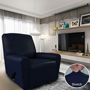 1 Seater Waterproof Stretch Sofa Covers PU Leather Slipcovers Anti-Slip UK STOCK