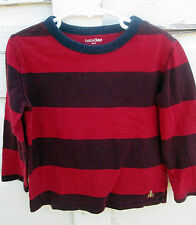 Baby Gap Boys Long Sleeve Red Striped Wide Stripe Shirt Size 4T
