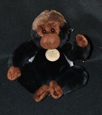 Peluche doudou singe RAVENSDEN RUSHDEN Suma Collection noir brun gris 15 cm NEUF