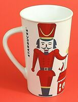 Starbucks Toy Soldier Nutcracker Cup Mug 2012 White Red Tall 16 oz. Ceramic EUC