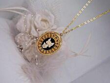 Moneda de oro cristal ángel guardián Collar Relicario De Cristal 32 pulgadas mamá 531