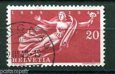 SUISSE SCHWEIZ, 1948, timbre 455, CENTENAIRE ETAT, oblitéré, VF STAMP cancelled
