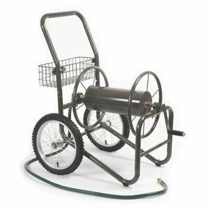 Liberty Garden 880 2 Wheel 300 Foot Steel Frame Water Hose Reel Cart with Basket